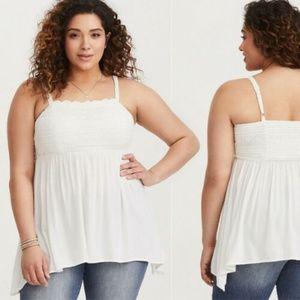 Torrid NWT Sharkbite Embroidered Crepe Lace Tank